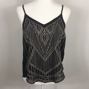 Ya Los Angeles Black Silk Tank Top